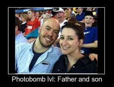 Father and son photobomb…