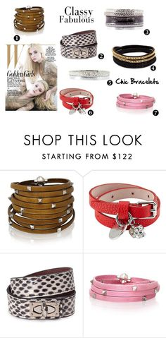 """""""Bracelet en cuir"""" by saheline ❤ liked on Polyvore featuring Sif Jakobs Jewellery, Alexander McQueen, Givenchy and Vita Fede"""