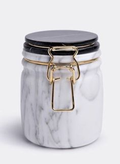 For Sale on - Miss marble jar designed by Lorenza Bozzoli. Traditional jar produced in opaque white Carrara marble and polished marquinia marble with brass latch. Jar Design, Home Design, Layout Design, Interior Design, Marble Interior, Contemporary Interior, Marble Collection, Marble Jar, Carrara Marble