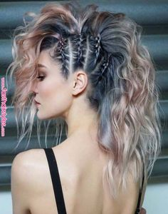 45 gorgeous side braids with high ponytails in 2018 braids gorgeous high ponytails side 27 elegant side braid ideas to style your long hair Hair Inspo, Hair Inspiration, Curly Hair Styles, Hair Ponytail Styles, Bun Styles, Fast Hairstyles, Hairstyles Pictures, Side Braid Hairstyles, Faux Hawk Hairstyles