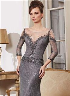 Gorgeous Sheath Bateau Embroidery Zipper Up Floor Length Lace Mother Of  Bride Dress Mori Lee Dresses 04e250233079