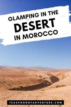 GLAMPING IN MOROCCO! Want to spend a night glamping in Morocco in the Agafay Desert? Nothing beats glamping in the Moroccan desert. And this is the perfect alternative if you don't have time to go to the Sahara Desert. Check out an incredible night of affordable and luxurious glamping! #glamping #desert #sahara #agafay #agafaydesert #morocco #marrakesh #marrakech #travel #travelafrica #camping #luxurytravel #budgettravel