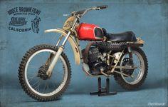 Bruce Brown's 1970 Husqvarna 250 Cross #husky