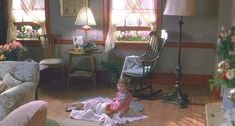 Baby Boom living room 1 - love this movie and the idea that just because 1 door closes it doesn't mean that life can't change for the better.