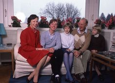 Princess Benedikte with her family