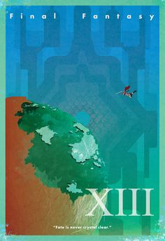 """Final Fantasy XIII Vintage Poster. """"Fate is never crystal clear."""""""