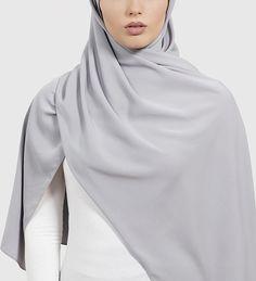 Feather Grey Peach Skin Hijab - £11.90 : Inayah, Islamic Clothing & Fashion, Abayas, Jilbabs, Hijabs, Jalabiyas & Hijab Pins