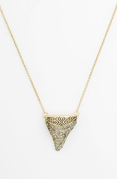 House of Harlow 1960 'Shark Tooth' Pendant Necklace available at #Nordstrom