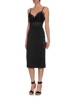 Mesh-insert bustier dress | Oscar De La Renta | MATCHESFASHION.COM UK