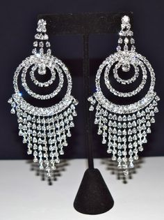 Diamond Shape Costume Earrings Silver Colour | Costume Fashion ...