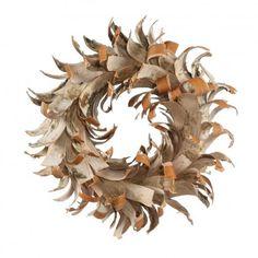 "Vickerman 13"" Birch Bark Wreath"