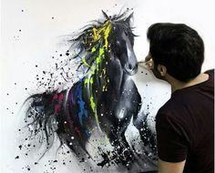 *CANVAS horse painting color