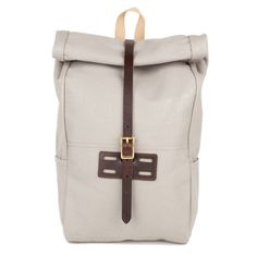 Archival Roll Top Rucksack in Driftwood - very durable!