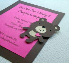 Teddy Bear Invitations or could make it a panda