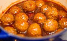 Sweet Chili Cranberry Meatballs Appetizer Recipe