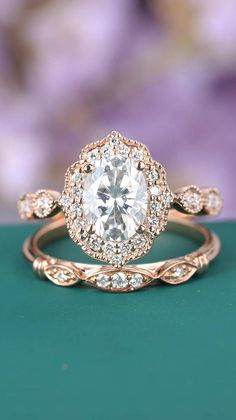 Vintage engagement ring | Art deco engagement ring