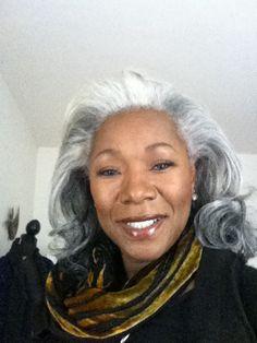 My Big Gray Hair, I love my Gray Model Lynette Halalay
