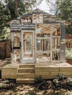 Window Greenhouse, Backyard Greenhouse, Greenhouse Plans, Backyard Sheds, Cheap Greenhouse, Greenhouse Wedding, Backyard Landscaping, Build Your Own Garage, Build A Dog House