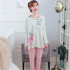 39.58$  Buy now - https://alitems.com/g/1e8d114494b01f4c715516525dc3e8/?i=5&ulp=https%3A%2F%2Fwww.aliexpress.com%2Fitem%2FSummer-Maternity-Pajamas-Set-Nursing-Clothes-For-Pregnant-Women-Clothes-Cartoon-Cotton-2016-Autumn-Maternity-Clothing%2F32763758653.html - Summer Maternity Pajamas Set Nursing Clothes For Pregnant Women Clothes Cartoon Cotton 2016 Autumn Maternity Clothing 70M0163