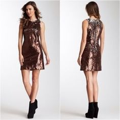 I just added this to my closet on Poshmark: 🆕HOST PICK 👗Bronze and Silver Sequins Dress. Price: $70 Size: S
