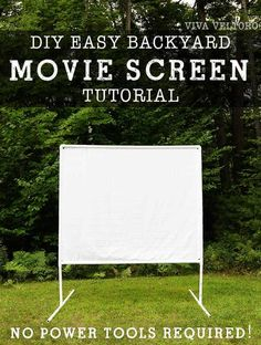 If you've ever thought making an outdoor movie theater experience in your backya. If you've ever thought making an outdoor movie theater experience in your backyard, check out our tutorial for how to ma. Backyard Movie Screen, Backyard Movie Theaters, Outdoor Movie Screen, Backyard Movie Nights, Outdoor Movie Nights, Outdoor Screens, Outdoor Cinema, At Home Movie Theater, Outdoor Theater