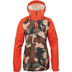 686 Parklan Savanna Anorak Snowboard Jacket - Women's: Hunter Canvas Camo 2015