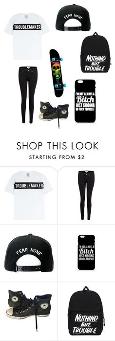 """Untitled #80"" by darksoul7 ❤ liked on Polyvore featuring Zoe Karssen, Paige Denim, Trukfit and Converse"