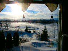 Winter window view by Bogdan Fiedur
