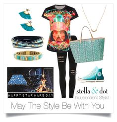 May4th by paulinhag on Polyvore featuring polyvore, fashion, style, Converse, Stella & Dot and clothing