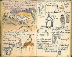 Moroccan notebook by Eugène Delacroix
