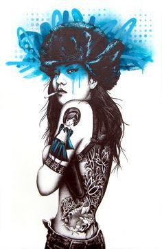 Street art~    killer Instinct by Fin DAC