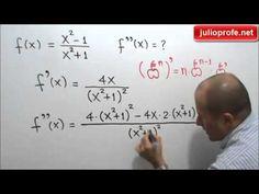 Segunda derivada de una función racional: Julio Rios explica cómo obtener la segunda derivada de una función racional.