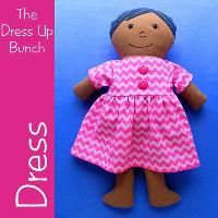 Dress Pattern for Dress Up Bunch Dolls