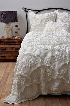 ANTHROPOLOGIE RIVULETS QUILT, home decor, rustic, farmhouse, duvet cover, master bedroom (aff link)