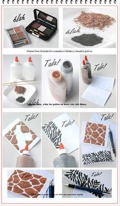 enrHedando: Como hacer Pegamento de Colores con Polvos Cosmeticos