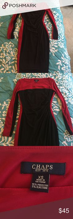 Red and black Chaps dress Perfect work to weekend dress! Red and black dress from Chaps. NWOT. Chaps Dresses