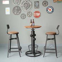 Loft vento industriale D'epoca in ferro battuto tavoli e sedie da bar e…