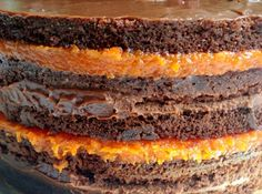Receita de Bolo de chocolate com Doce de Abóbora - bolo. Quando estiver fria…