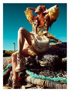 fashiongonerogue: (via Karlie Kloss by Greg Kadel for Numéro #129)