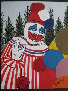 John Wayne Gacy Goodbye Pogo the Clown oil painting – Supernaught