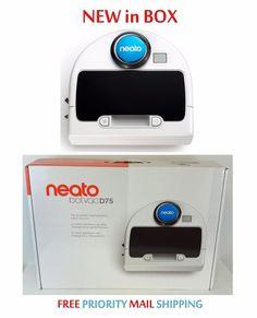 $398.99 Free EXP Ship Neato Botvac D75 Robot Vacuum Cleaner NEW in Box Bagless D7500 945-0175 #Neato #RobotVacuum #VacuumCleaner #Vacuum #Botvac