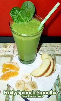Spinach Smoothie Recipe with Fruit