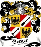 Berger family crest / coat of arms from www.4crests.com #coatofarms #familycrest #familycrests #coatsofarms #heraldry #family #genealogy #familyreunion #names #history #medieval #codeofarms #familyshield #shield #crest #clan #badge #tattoo