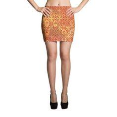 Root Chakra Watercolor Mini Skirt - Fook Yes!