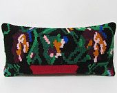 decorative pillow wool pillow case kilim pillow bench pillow case kilim lumbar pillow couch pillow cover moroccan floor cushion wool 25623