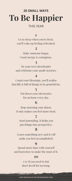 20 Small Ways To Be Happier This Year // Little habits that will bring a positive impact in your life. Click through to read more! // Notes from Joana