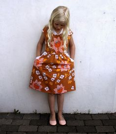 The Lotta dress: pattern by Compagnie M. Sewn by groovy baby… and mama