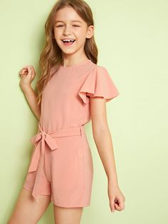 Girls Zip Back Flutter Sleeve Belted Romper Girls Zip Back Flutter Sleeve Belted Romper,Design Girls Zip Back Flutter Sleeve Belted Romper – kidenhome There are images of the best DIY designs in the world. Dresses Kids Girl, Kids Outfits Girls, Cute Girl Outfits, Girls Fashion Clothes, Tween Fashion, Cute Outfits For Kids, Cute Summer Outfits, Kids Girls, Fashion Outfits