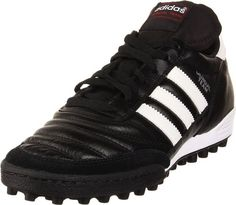 adidas Performance Mundial Team Turf Soccer Cleat,Black/White,10 M US