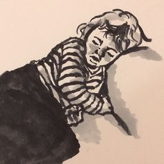 Sharon O'Callaghan, marker sketch of child sleeping Sketch Markers, Kids Sleep, Contemporary Art, Drawings, Children, Instagram Posts, Artist, Young Children, Boys